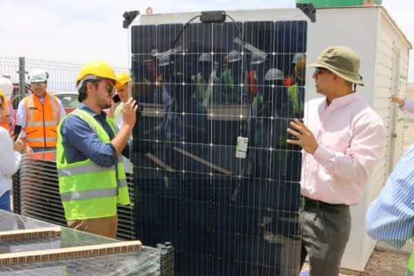 Solar energy harvesting in Chile's desert